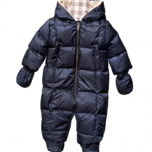 BURBERRY Blue Down Padded Snowsuit