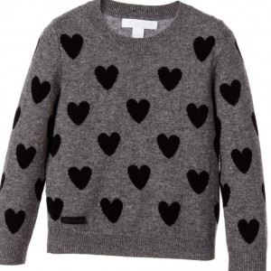 BURBERRY Girls Grey Wool & Cashmere Sweater