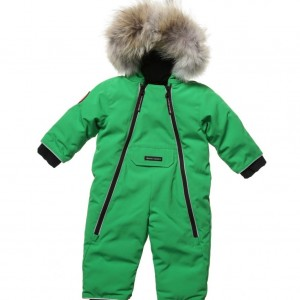 CANADA GOOSE Green 'Lamb' Down Padded Baby Snowsuit