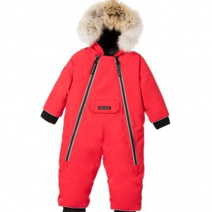 CANADA GOOSE Red 'Lamb' Down Padded Baby Snowsuit