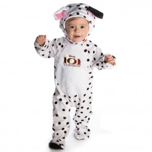 DISNEY BABY White & Black Spot '101 Dalmatians' Baby Dress-Up Costume