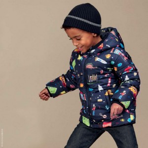 DOLCE & GABBANA Boys Blue 'Back To School' Down Padded Jacket