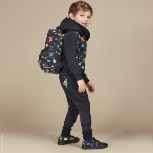 DOLCE & GABBANA Boys Blue 'Back to School' Zip-Up Top