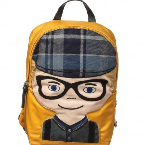 DOLCE & GABBANA Boys Yellow 'DG Family' Backpack