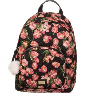 DOLCE & GABBANA Girls Black & Pink Tulip Backpack