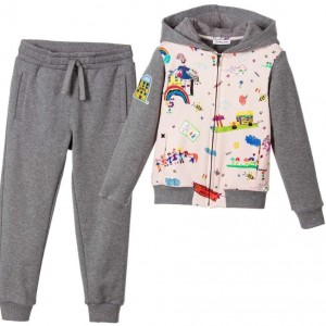 DOLCE & GABBANA Girls Grey 'Back to School' Tracksuit