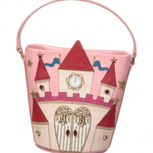 DOLCE & GABBANA Girls Pink Fairytale Castle Leather Bag
