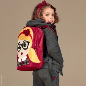DOLCE & GABBANA Girls Red 'Back to School' Backpack