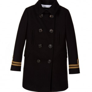 DSQUARED2 Black Broadcloth Wool Coat