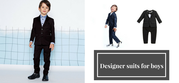 Constantly improving and expanding brands introduce totally creative stylish designer suits for boys
