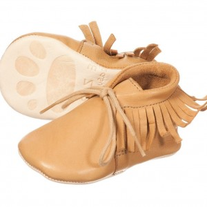 EASY PEASY Tan Leather 'Meximoo' Pre-Walker Baby Shoes
