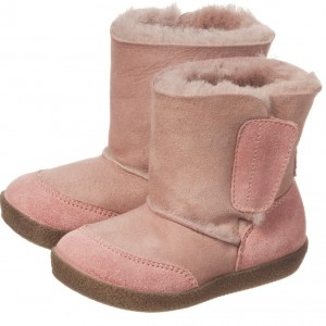 FALCOTTO BY NATURINO Girls Pink Sheepskin Boots