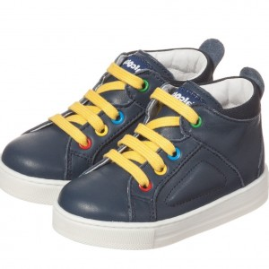 FALCOTTO BY NATURINO Navy Blue Leather Trainers