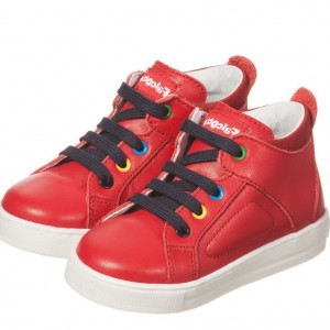 FALCOTTO BY NATURINO Red Leather Trainers