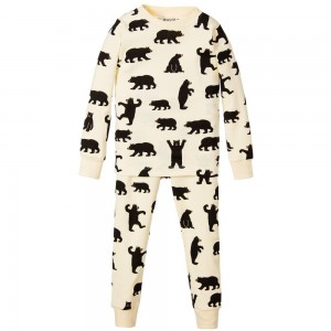 HATLEY Yellow & Brown Wild Bear Pyjamas