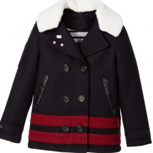 IKKS Boys Navy Blue Wool Peacoat