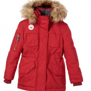 IKKS Boys Red Padded Parka Coat