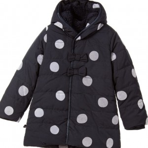 IKKS Girls Navy Blue Spotted Coat