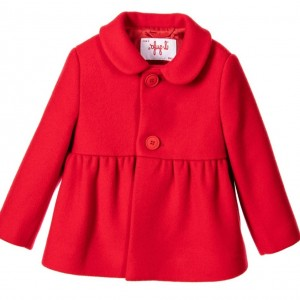 IL GUFO Girls Red Wool & Cashmere Coat