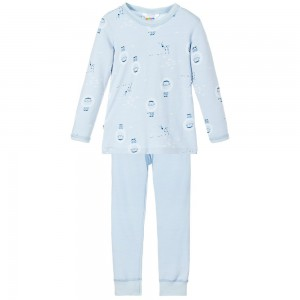 JOHA Blue Wool & Organic Cotton Pyjamas