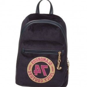 JUICY COUTURE Girls Blue Velour Backpack