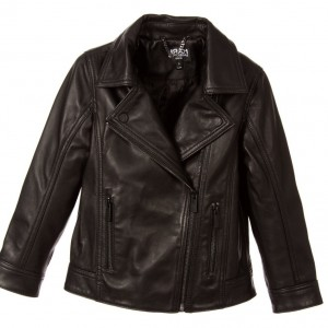 KARL LAGERFELD KIDS Boys Black Leather Jacket