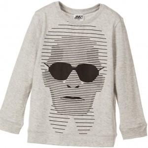 KARL LAGERFELD KIDS Boys Grey Cotton Karl Top