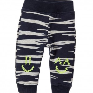 KENZO Baby Boys Blue & Grey 'Smiley' Trousers