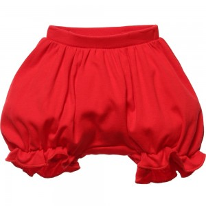 LEMON LOVES LAYETTE Red Pima Cotton 'Bella' Bloomers