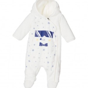 LITTLE MARC JACOBS Boys Ivory Plush Hedgehood Snowsuit with Hood