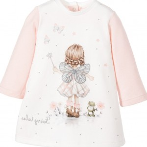 MAYORAL Baby Girls Pink Cotton Fairy Dress