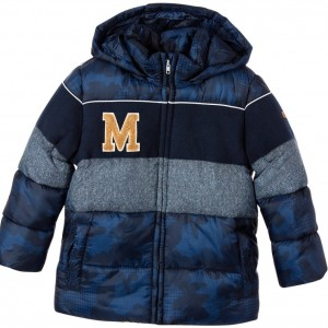 MAYORAL Boys Blue Camouflage Padded Coat