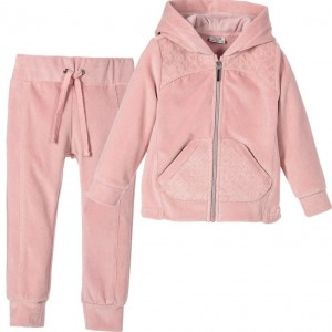 MAYORAL Girls Pink Sparkly Velour Tracksuit