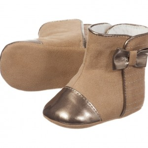 MAYORAL NEWBORN Baby Girls Beige Pre-Walker Boots