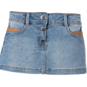 MAYORAL Pale Blue Denim Skirt