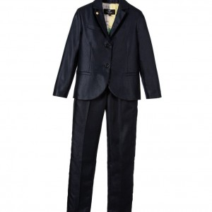 MIGUEL VIEIRA Boys Shimmering Blue 2 Piece Suit