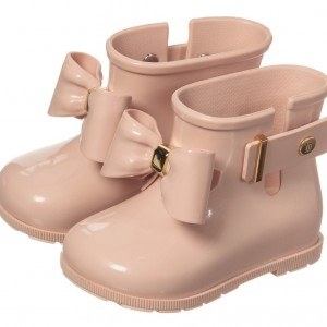 MINI MELISSA Girls Pink 'Sugar' Rain Boots With Pink Bow