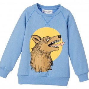 MINI RODINI Light Blue Organic Cotton 'Wolf' Sweatshirt