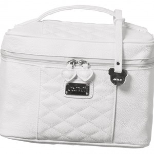 NANAN White Synthetic Leather Vanity Case