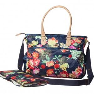 OILILY Blue Floral Baby Changing Bag & Mat