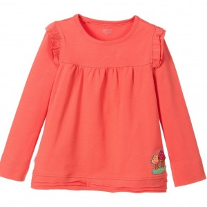 OILILY Girls Coral Pink Long Sleeved Top