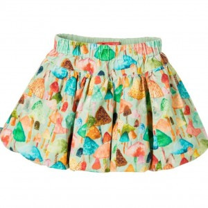 OILILY Girls Corduroy Toadstool Print Skirt