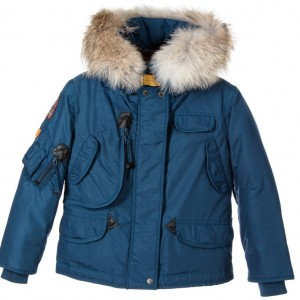 PARAJUMPERS Boys Blue 'Masterpiece' Technical Down Coat