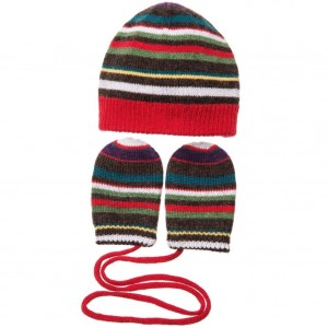 PAUL SMITH JUNIOR Baby Boys Wool & Cashmere 'Mac' Hat & Mittens Set