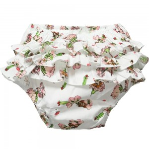 POWELL CRAFT Baby Girls 'Garden Fairy' Frilly Knickers
