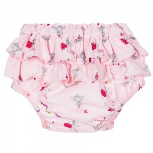POWELL CRAFT Baby Girls Pink Pony Frilly Cotton Pants