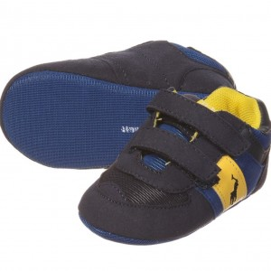 RALPH LAUREN Blue Boys Pre-Walker Trainers