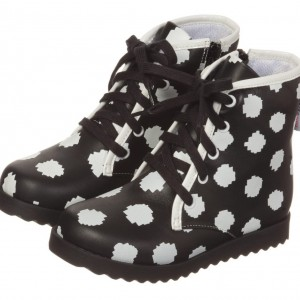 SOPHIA WEBSTER MINI Girls Black & White 'Wily' Leather Ankle Boots