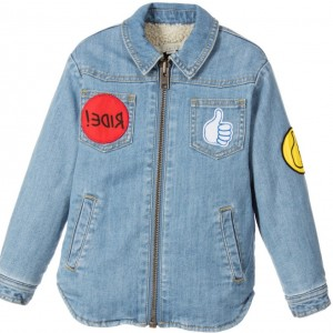 STELLA MCCARTNEY KIDS Blue Denim 'Merle' Jacket