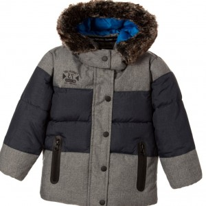 TIMBERLAND Boys Grey Padded Hooded Coat